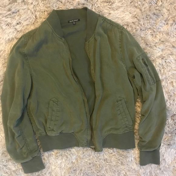 e3cf2f0d79b93 dear john Jackets & Coats | Dalba Green Bomber Jacket Stitch Fixmed ...